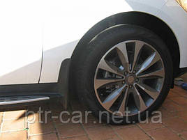 Брызговики Mercedes-Benz GLE SUV AMG (с порогами) 2015-2020 кт 4шт