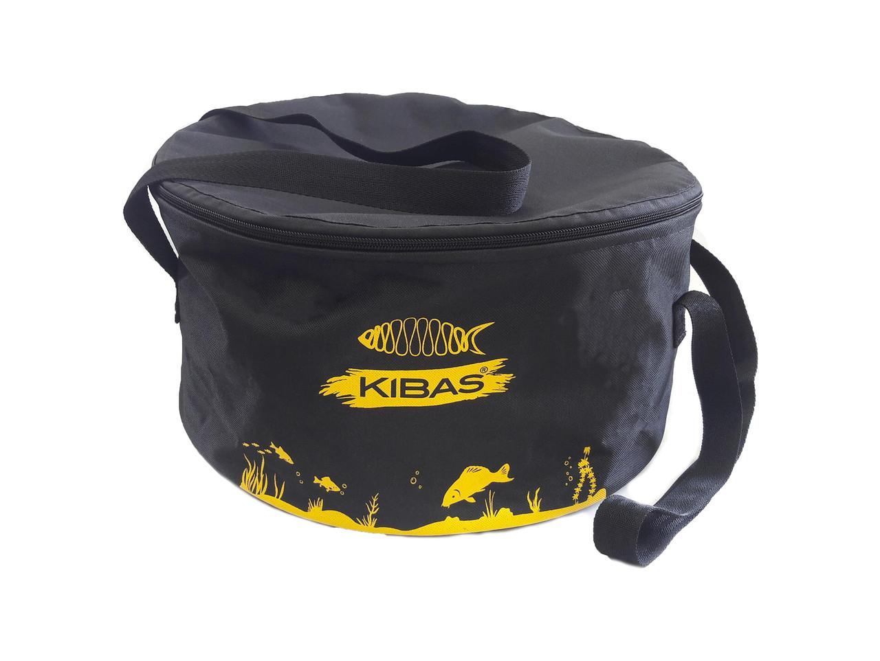 Ведро рыбацкое для замеса прикормки и сберигания c крышкой KIBAS D400 ( кибас )