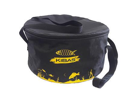 Ведро рыбацкое для замеса прикормки и сберигания c крышкой KIBAS D400 ( кибас ), фото 2