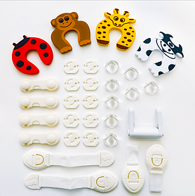 Набір блокаторів, фіксаторів та заглушок для дитячої безпеки Преміум з 31 предмета