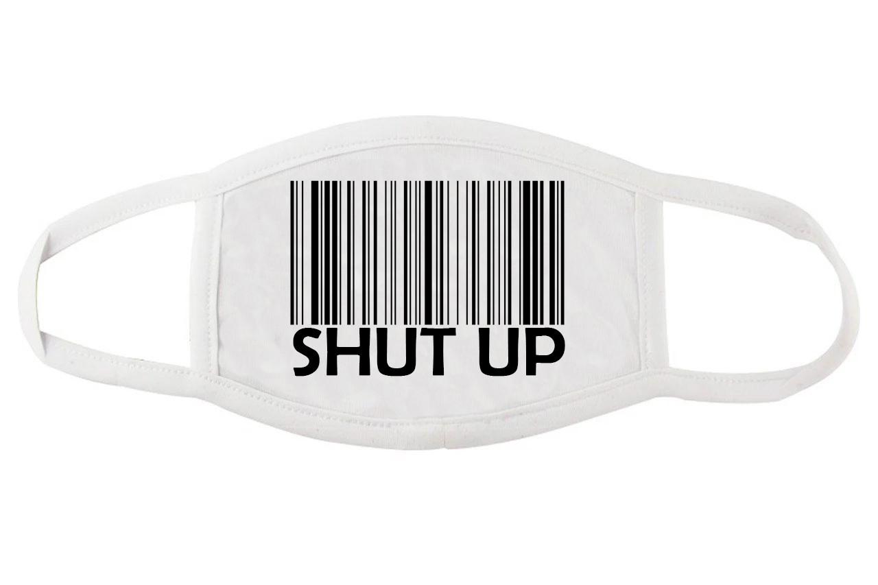 Прикольная маска для лица Штрих код
