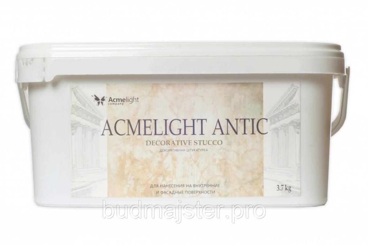 Світна декоративна штукатурка AcmeLight Antic блакитне світіння