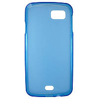 Чехол Colored Silicone для Fly IQ4411 Quad Energie 2 Blue