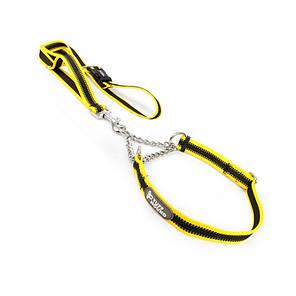 Ошейник удавка для собак TUFF HOUND TC00104 Yellow Black S с поводком, фото 2