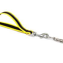 Ошейник удавка для собак TUFF HOUND TC00104 Yellow Black S с поводком, фото 3