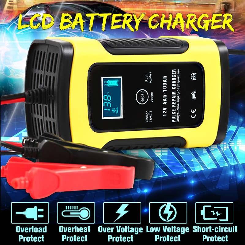 Автоматическое SMART зарядное устройство авто аккумулятора 12в 4-100Ah