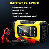 Автоматическое SMART зарядное устройство авто аккумулятора 12в 4-100Ah, фото 4