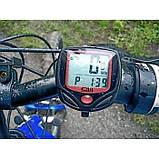Велокомпьютер, спидометр SunDing SD-548B 15 функций (велоспидометр), фото 6