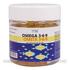 Омега 3-6-9, 500 мг, 100 капсул, Green Pharm Cosmetic