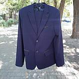 Школьный костюм двойка для мальчика синего цвета BOZER р. 152, фото 3