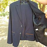 Школьный костюм двойка для мальчика синего цвета BOZER р. 152, фото 2