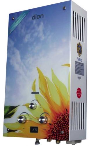 Газова колонка Діон JSD 10 дисплей соняшник