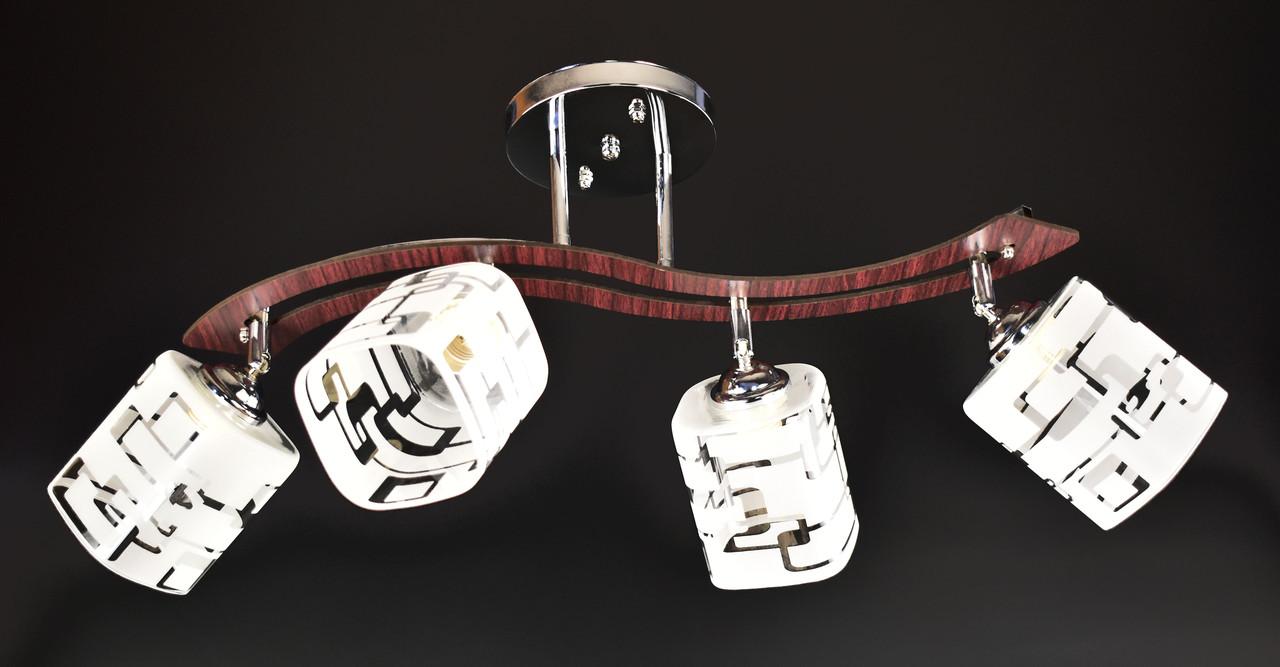 Люстра потолочная на 4 лампочки 6032/4-ch Хром 31х15х70 см.