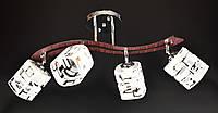 Люстра стельова на 4 лампочки 6032/4-ch Хром 31х15х70 див., фото 1