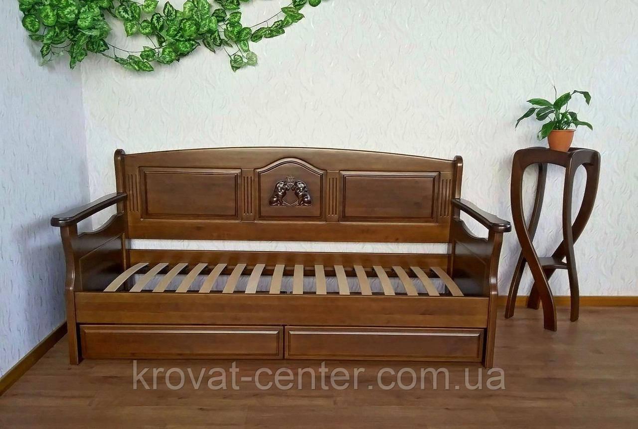 """Дитячий диван - ліжко з ящиками з масиву дерева """"Орфей Преміум"""" від виробника"""