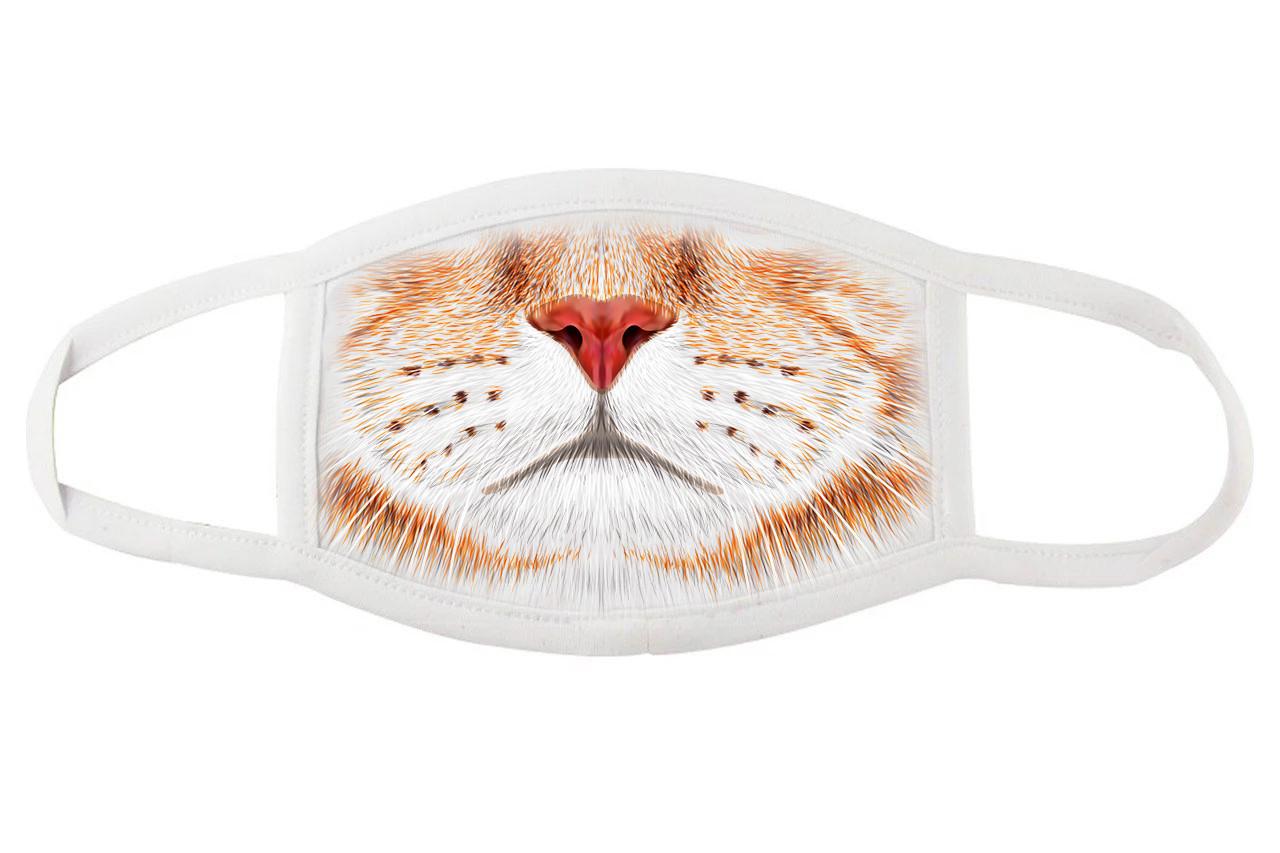 Защитная маска для лица с мордочкой рыжего кота
