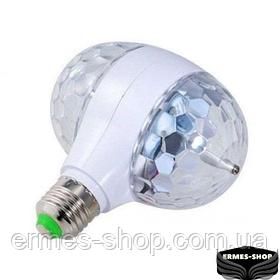 Диско-лампа світлодіодна подвійна обертається LED Magic Ball Light 002