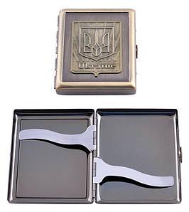 Портсигар на 20 сигарет Герб Украины AM-002