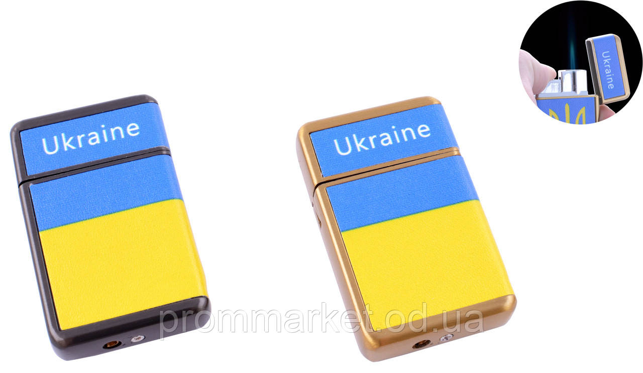 Зажигалка карманная Ukrain (Острое пламя) №HL-113-5