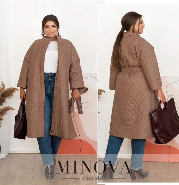 Тёплая простёганная куртка батал с подкладкой Размеры: 50.52.60-62.