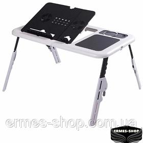 Столик для ноутбука E-Table LD-09   Портативний складаний з 2 USB кулерами