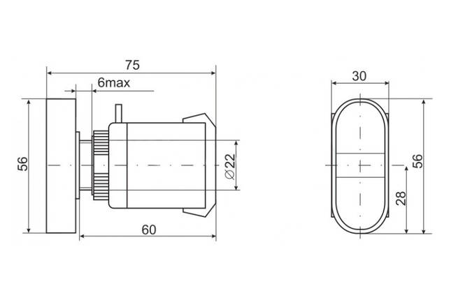 "Кнопка APBB-22N ""ПУСК-СТОП"" TechnoSystems TNSy5500641, фото 2"
