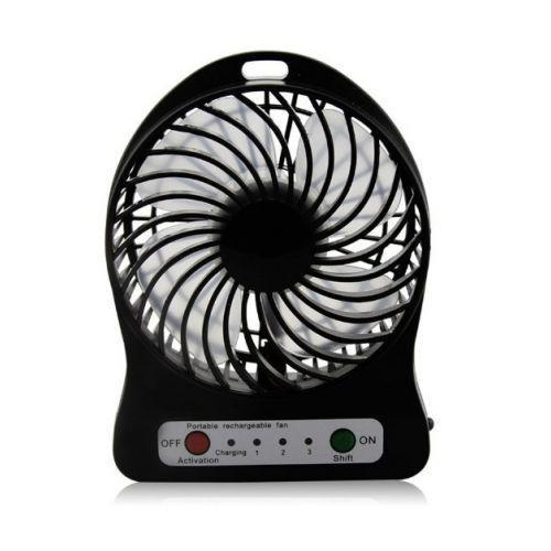 USB настольный мини вентилятор Mini Fan XSFS-01 с аккумулятором 4,5 ват