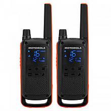 Рація Motorola Talkabout T82 Twin Pack (0.5 W, UHF, 446 MHz, до 10 км, 16 каналів, АКБ), 2шт, чорний
