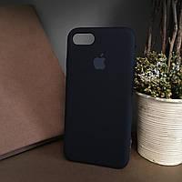 Чехол бампер silicone case для Iphone 7 Чёрный. Силиконовый чехол накладка на айфон 7