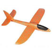 Самолет планер метательный Explosion Большой размах крыльев 49 см Оранжевый (258611)