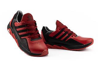 Підліткові кросівки шкіряні весна/осінь червоні-чорні CrosSAV 307 Forest Grove