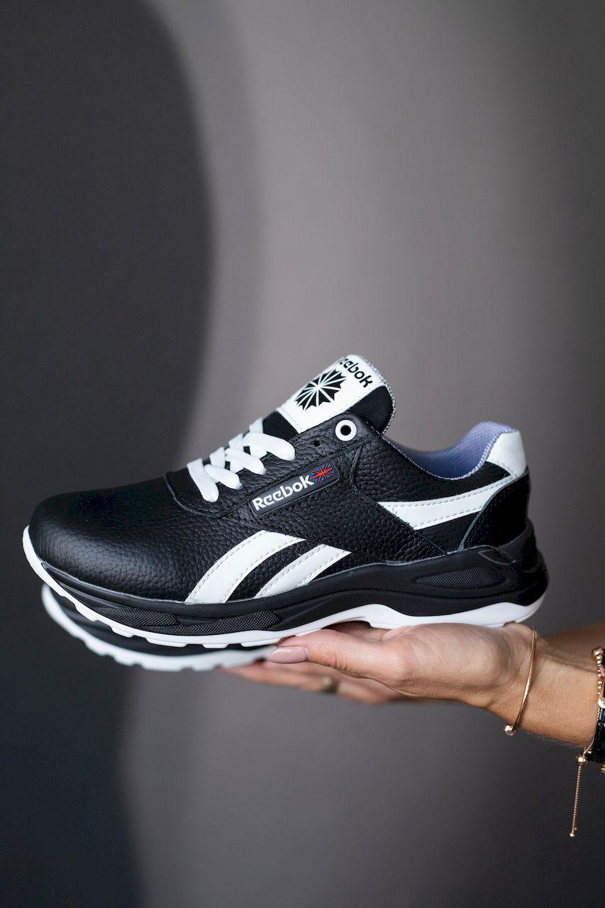 Підліткові кросівки шкіряні весна/осінь чорні-білі CrosSAV 90 Exofit Lo Clean