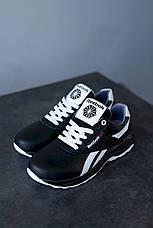 Підліткові кросівки шкіряні весна/осінь чорні-білі CrosSAV 90 Exofit Lo Clean, фото 2
