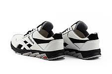Подростковые кроссовки кожаные весна/осень белые-черные CrosSAV 50 Classic Leather Pearl, фото 3