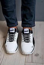 Мужские кроссовки кожаные весна/осень белые-черные CrosSAV 06 Escaper, фото 2
