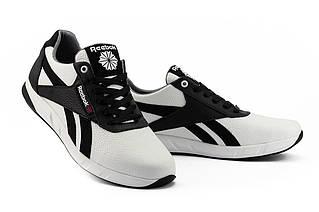 Чоловічі кросівки шкіряні весна/осінь білі-чорні CrosSAV 90 Exofit Lo Clean