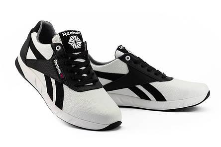 Мужские кроссовки кожаные весна/осень белые-черные CrosSAV 90 Exofit Lo Clean, фото 2