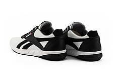 Мужские кроссовки кожаные весна/осень белые-черные CrosSAV 90 Exofit Lo Clean, фото 3