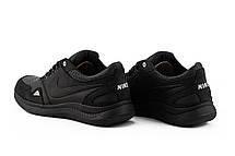 Мужские кроссовки кожаные весна/осень черные ZNIK N1, фото 3