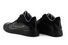 Мужские кроссовки кожаные весна/осень черные-черные CrosSav 310, фото 3