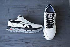 Мужские кроссовки кожаные весна/осень белые-черные CrosSAV 50 Classic Leather Pearl, фото 2