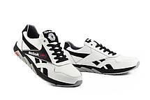 Мужские кроссовки кожаные весна/осень белые-черные CrosSAV 50 Classic Leather Pearl, фото 3