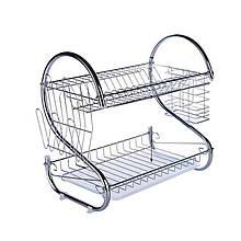 Стойка Trend-mix kitchen storage rack для хранения посуды Серебристая (tdx0000532)