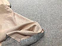 Ткань ангора-софт рубчик пудрового цвета меланж