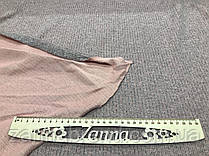 Ткань ангора-софт рубчик розового цвета меланж