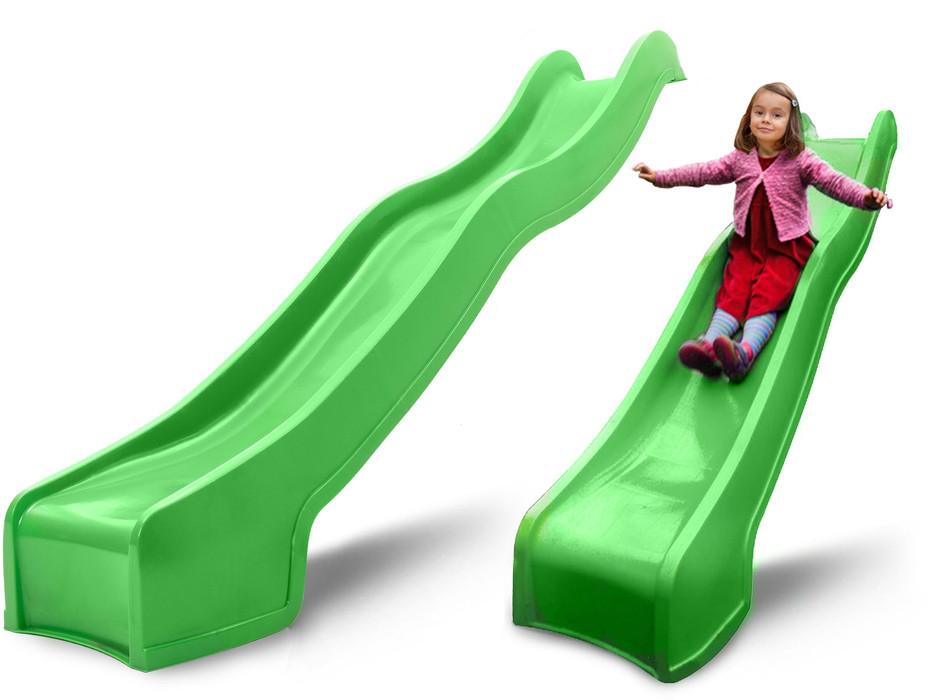 Дитяча гірка пластикова для будинку і дачі, пластмасова гірка спуск 3 м HAPRO зелена