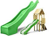Дитяча гірка пластикова для будинку і дачі, пластмасова гірка спуск 3 м HAPRO зелена, фото 2