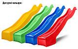 Дитяча гірка пластикова для будинку і дачі, пластмасова гірка спуск 3 м HAPRO зелена, фото 4