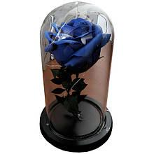 Роза в колбе Trend-mix с LED подсветкой маленькая Синяя (tdx0000845)