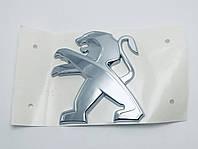 Эмблема решетки кузова и радиатора Peugeot 8см х 8см новый тип, фото 1